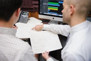 School of Music faculty member instructing a student